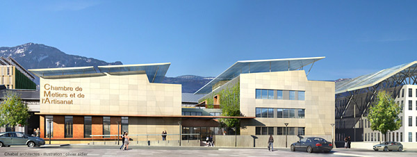 Advance Concrete Project: Grenoble Chamber of Professions and Craft Industries, EBS, Monbonnot, France