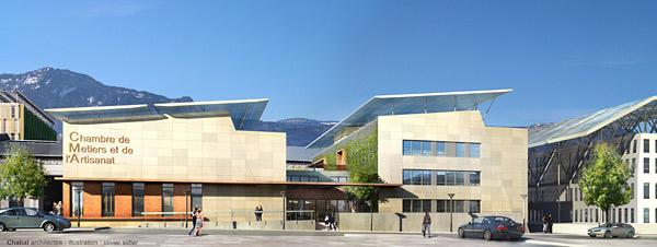 Advance Concrete Projet: Chambre de Métiers et de l'Artisanat de Grenoble - EBS, Montbonnot, France