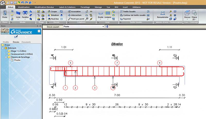 Comment importer automatiquement le ferraillage de Arche dans Advance Concrete?