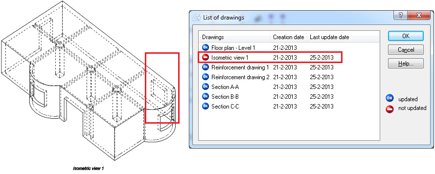 How can several drawings be updated simultaneously?