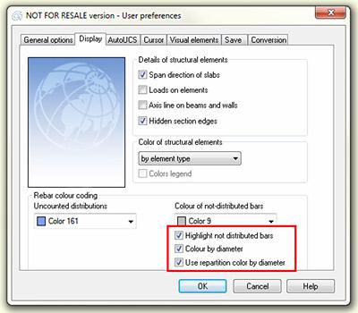 Advance Concrete - Préférences utilisateur avec de nouvelles options