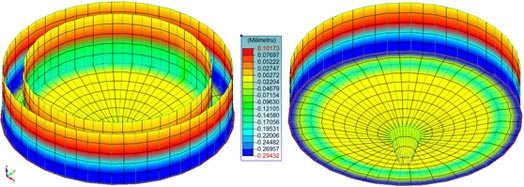 Advance Design - Stresses and the crack openings for planar elements, along the x local axis