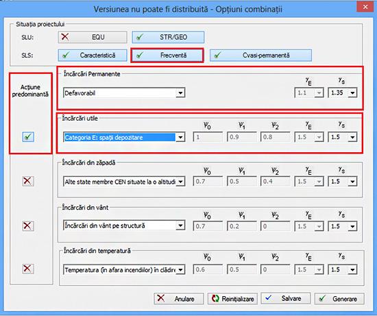 Cum se pot genera automat combinaţii de încărcări conform CR 0 - 2012?