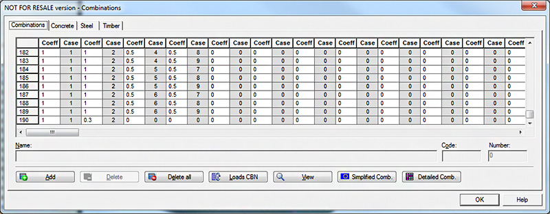 What are the load combinations exported from Advance Design to the Advance Design Steel Connection module for joint calculations