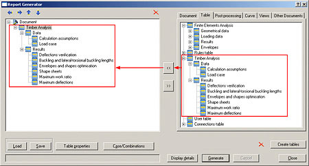 Complete calculation reports
