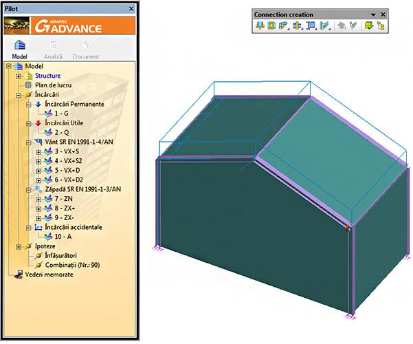 Care sunt combinaţiile de încărcări exportate de Advance Design în modulul Advance Design Steel Connection, folosit pentru calculul îmbinărilor?