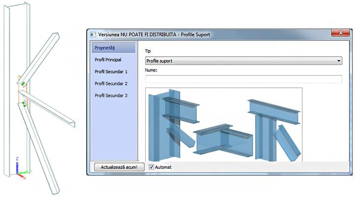 Cum pot fi editate proprietăţile elementelor conectate de îmbinările metalice în Advance Design Steel Connection