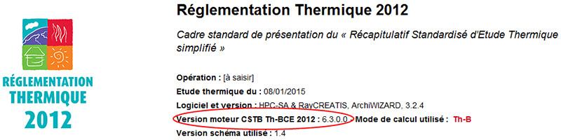 La version de mon moteur de calcul RT2012 est-elle toujours valable ?