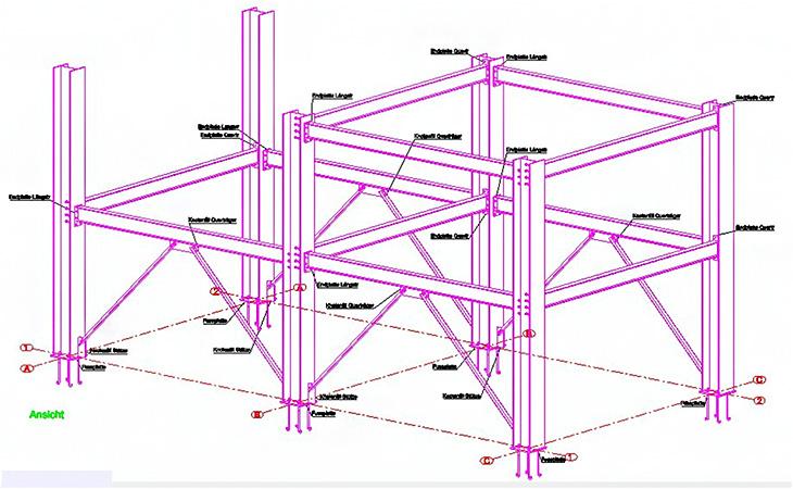 Wie kann in Advance Steel der Name eines Anschlusses in einer Ansicht ausgegeben werden, wenn ein Zeichnungsstil verwendet werden soll