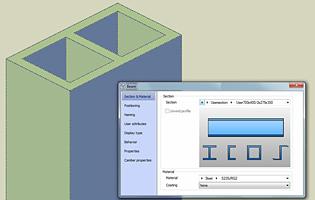 Transferul inteligent al secţiunilor de tip utilizator din Advance Steel în Advance Design