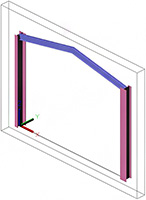 How is a user section assigned to structural elements such as Portal Frame?
