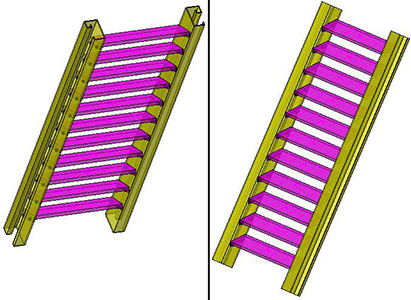 How is a user section for stairs stringers assigned in Advance Steel?