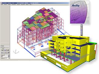 Arche : logiciel de descente de charges de b�timents en b�ton arm� et production automatique des plans de ferraillage