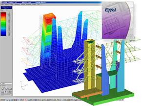 Effel : logiciel de calcul de structure aux �l�ments finis professionnel pour le b�ton arm�, le m�tal et le bois