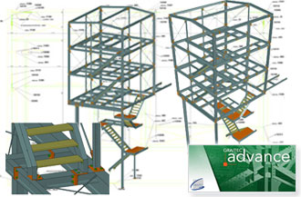 Advance Steel : applicatif AutoCAD professionnel pour la conception de structures m�talliques et la production automatique de plans de fabrication