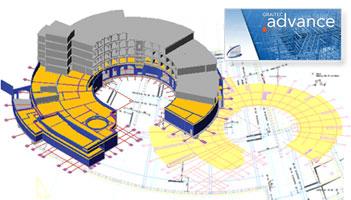 Advance Concrete : applicatif AutoCAD professionnel pour la conception de structures en béton armé et la production automatique de plans coffrage / ferraillage