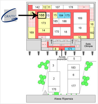 Locatie Graitec: ne puteţi găsi la Sala Olimpia, standul cu numărul 168