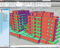 Autodesk Advance Concrete has embedded automated tools to convert architect's 2D entities into structural objects.