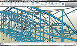 Advance Steel впоследствии создавать все строительные и рабочие чертежи на основе 3D-модели