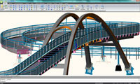 Advance Steel will subsequently generate all the construction and workshop drawings based on the 3D model