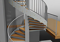 Advance Steel : Steelwork - stairs, railings, ladders, etc.