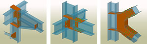 Advance Steel предлагает библиотеки настраиваемых автоматических соединений