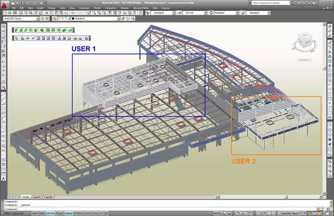 Advance Steel: многопользовательский сотрудничестве