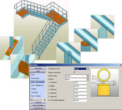 Autodesk Advance Steel: Stairs - Instant railings