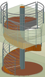 Autodesk Advance Steel: Stairs - Spiral stairs