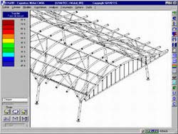 Analysis of a steel structure with Effel Steelwork Design module
