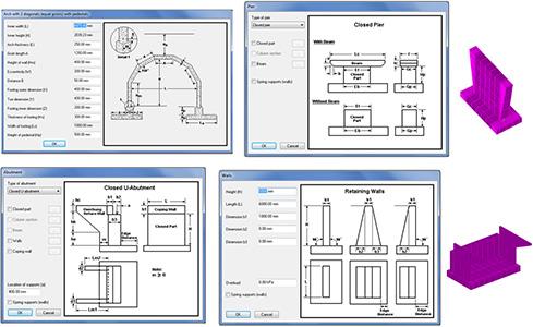 Antecedência Design America | Ponte Solução - Geradores: cais, pilares e paredes de retenção