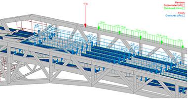 Antecedência Design America | Ponte Solução - cargas e combinações de