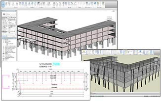 Drawing creation for a steel structure modeled in Autodesk Revit Structure.