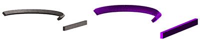 GRAITEC BIM Connect: Orientarea secţinii şi offset-urile pentru grinzile curbe