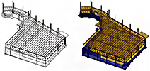Steel sections provided from Revit are imported in Autodesk Advance Concrete as user sections through the GTCX file format
