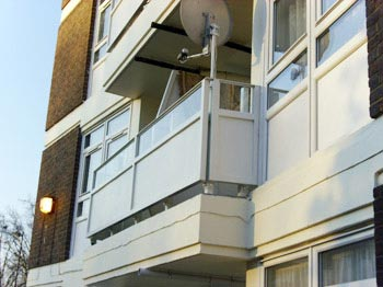 Refurbishment of balcony balustrade, London