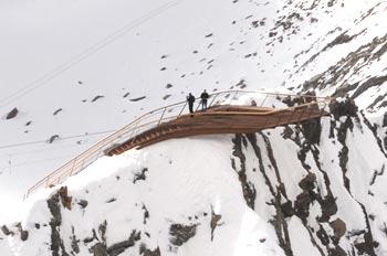 'Top of Tyrol' - Plate-forme d'observation, Alpes de Stubai, Tyrol, Autriche