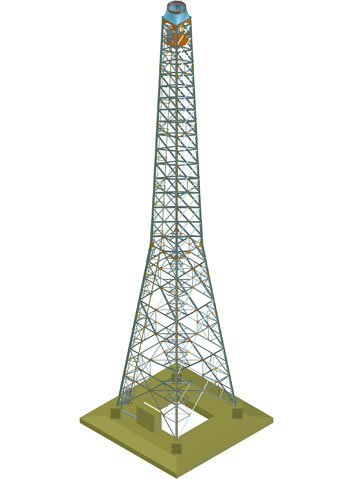 Steel grid tower for a wind energy plant, Azerbaijan