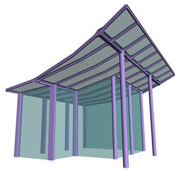 Steel canopy - Policolor Mall, Bucuresti, Romania