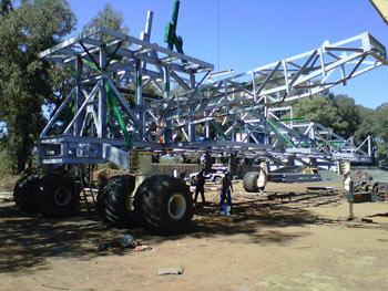 Utilaj de manevrare a benzilor transportoare, Mina de cupru Muliashi, Zambia