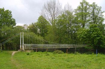 Canford suspension bridge, Dorset, UK