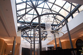 Steel-Glass roofing for hotel-lobby, Leipzig, Germany