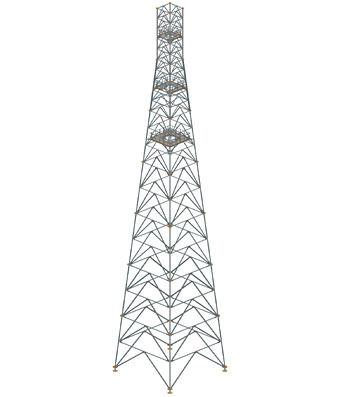Aerial Tower 70m tall, Chelmiec, Poland