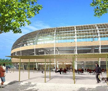 Şarpantă metalică  Stadion Grenoble, Franţa