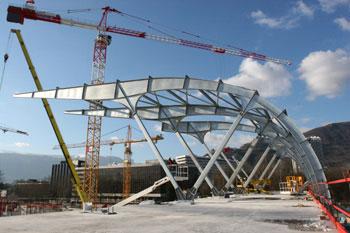 Metallic roof, Grenoble, France
