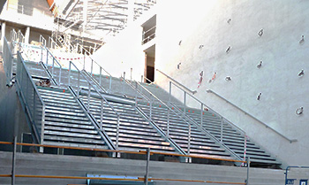 Outdoor stairs for Lyon commercial & leisure center, Bourg-en-Bresse, France