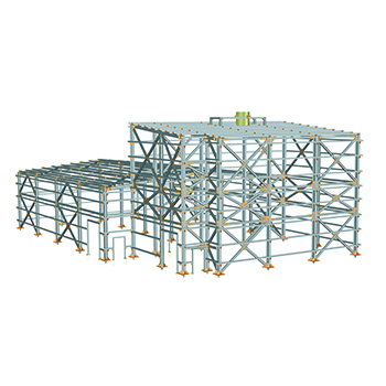Main building structure of a power unit of 860 MW combined cycle