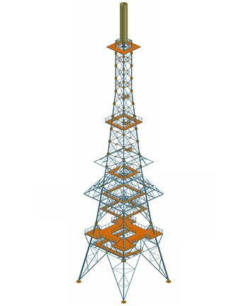 Stock-taking project of transmission tower, Poland