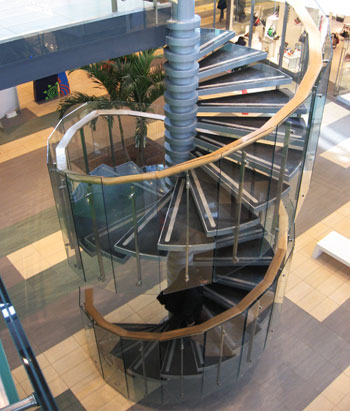 Steel spiral staircase, Bucharest, Romania