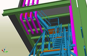 Escalier technique, Metallerie du Cambresis, France